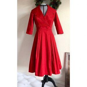 Trashy Diva Red Courtney Coat Dress Retro